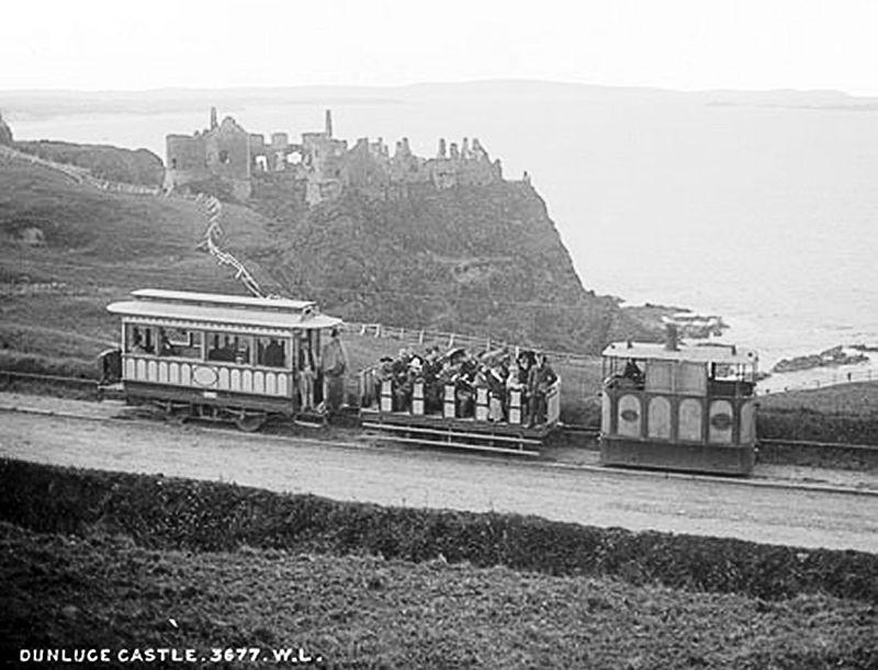 Dunluce Castle & Giant's Causeway Tram, c 1890