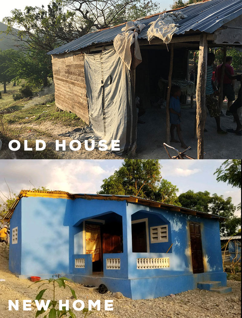 This is the old and new home we built for Miguelange.