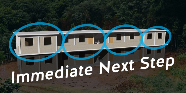 Once we have the first story construction started we'll be able to fund and start the second story classrooms.