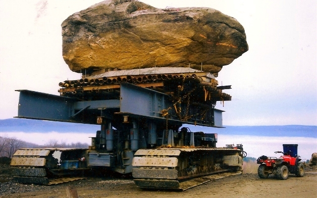 LARGE SCALE ROCK INSTALLATION