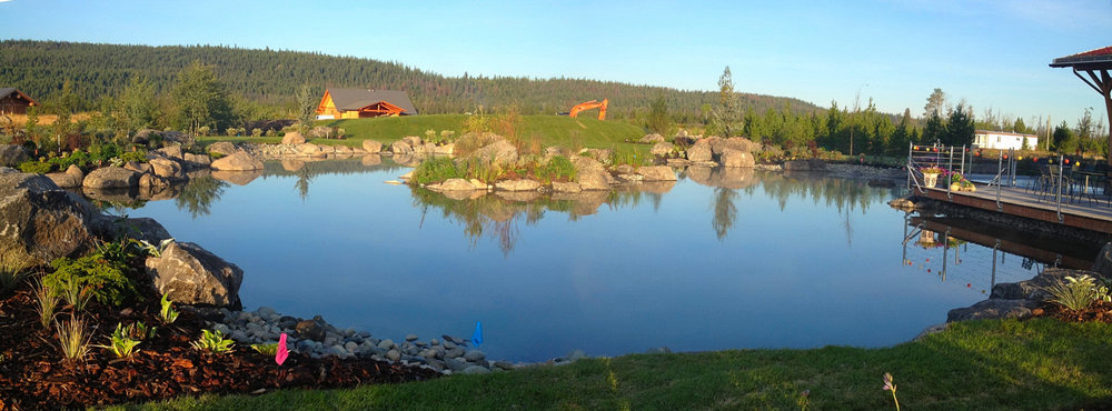 LARGE POND WITH BEUTIFUL ROCK PLACEMENT