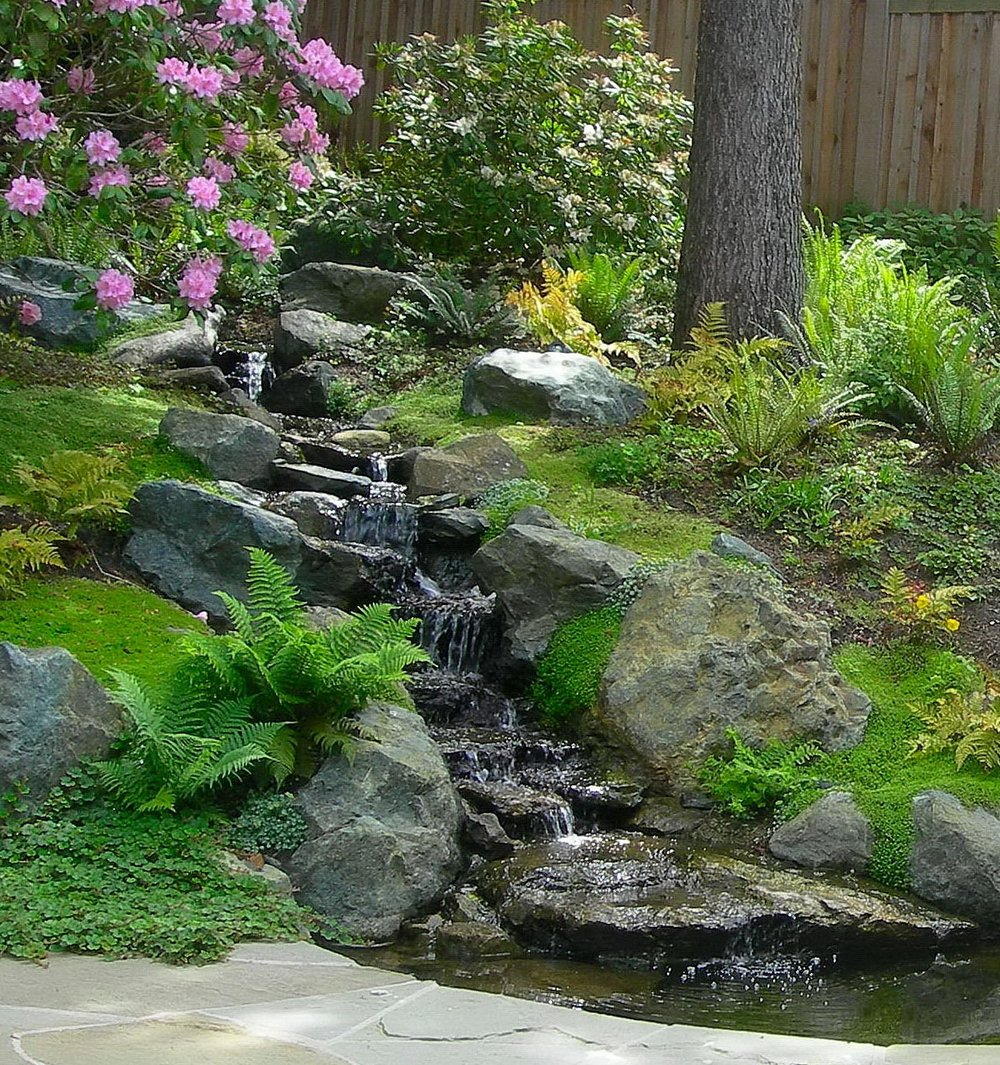 NATURAL WATERFEATURE AND POND