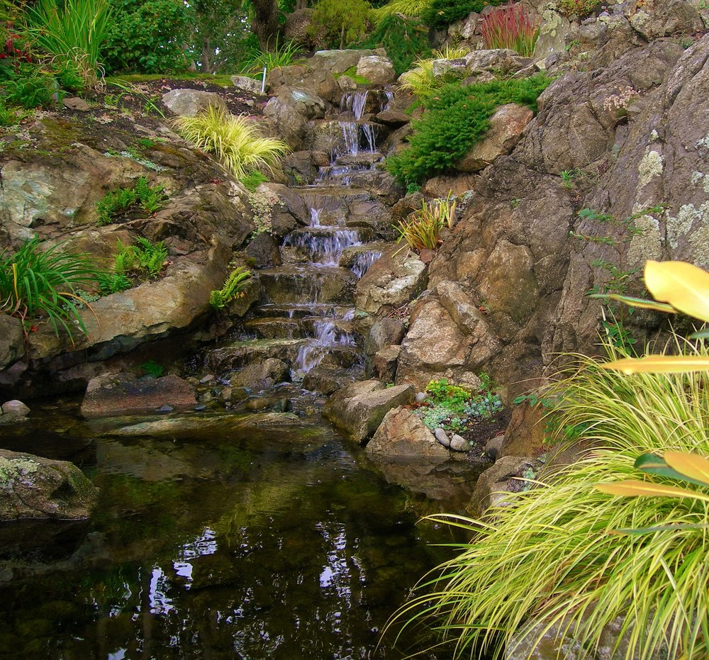 NATURAL WATERFALL AND POND