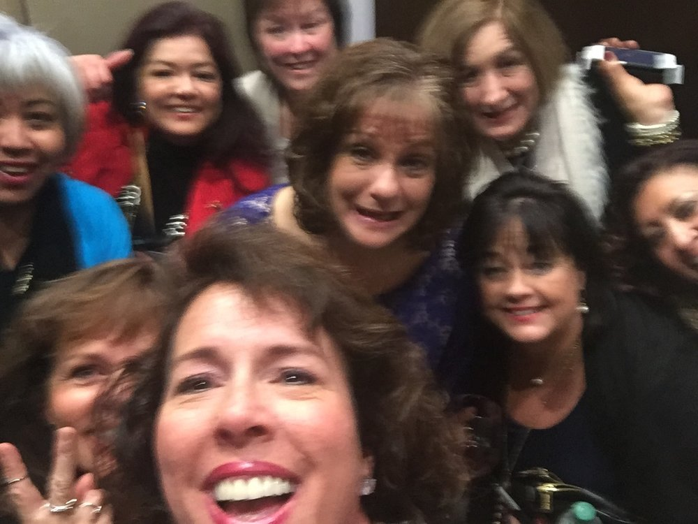 Booth and the other 11 women trapped in the elevator at the 2017 Leadership Conference.