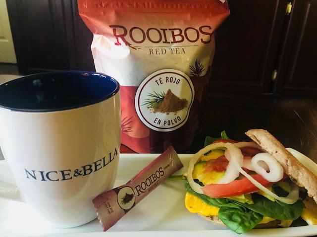 Muffin de huevo y espinacas / Acompañado con Té Rojo Rooibos NICE