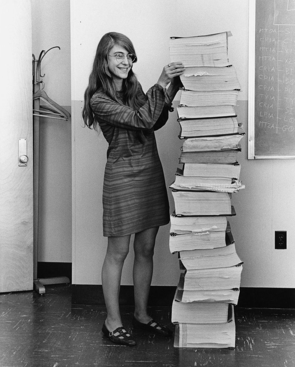 Margaret Hamilton - A woman who put pen to paper and helped put Apollo in space. Margaret was a software engineer who helped the development of Apollos guidance and navigation system. In recognition of her great accomplishments, she received the Presidential Medal of Freedom in 2016.