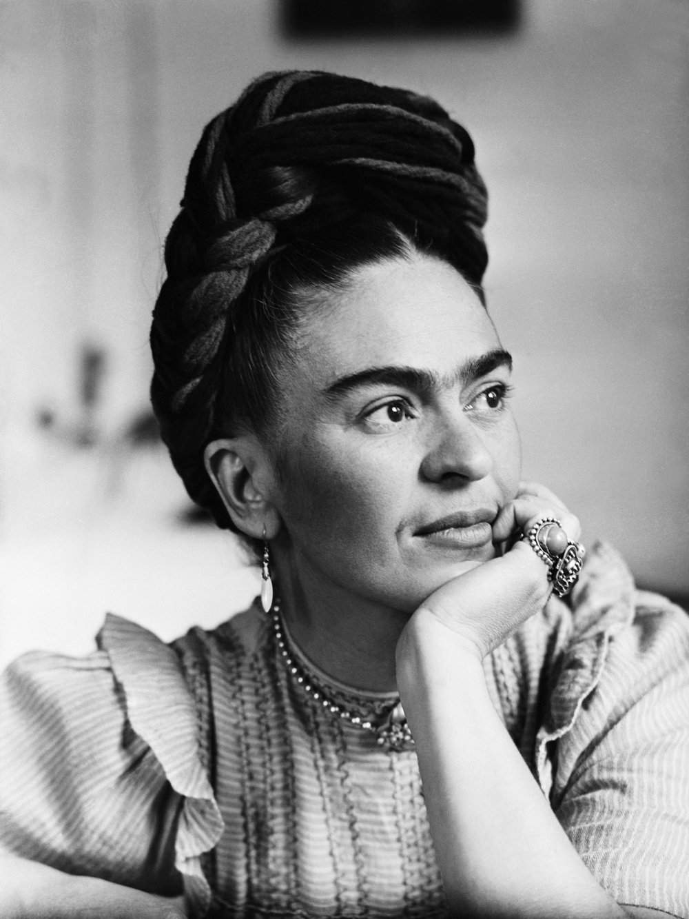 Frida Khalo - Frida Khalo is a well known Mexican artist who dealt with many hardships throughout her entire life. She is known for her bright paintings including self portraits. Frida insisted that her painting were her reality which is what made her work more riveting and raw.