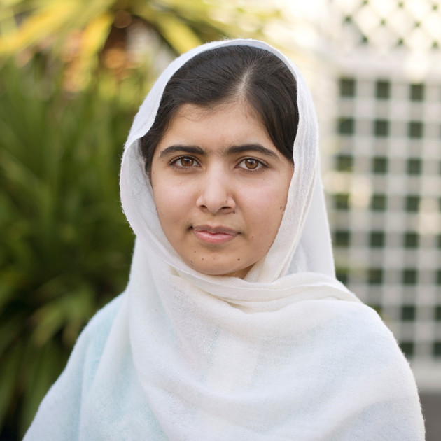 Malala Yousafzai - Malala is a Pakistani woman who was shot at the young age of 15 for supporting women's rights to education. After this horrible accident, her voice was hear around the world and she now uses it to share her story in an attempt to give girls around the world an opportunity to an educated and righteous future.