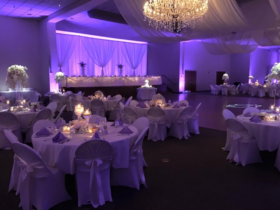 Monogram, Uplighting and Pin spot Lighting Unoh Lima Ohio Wedding (3).jpg