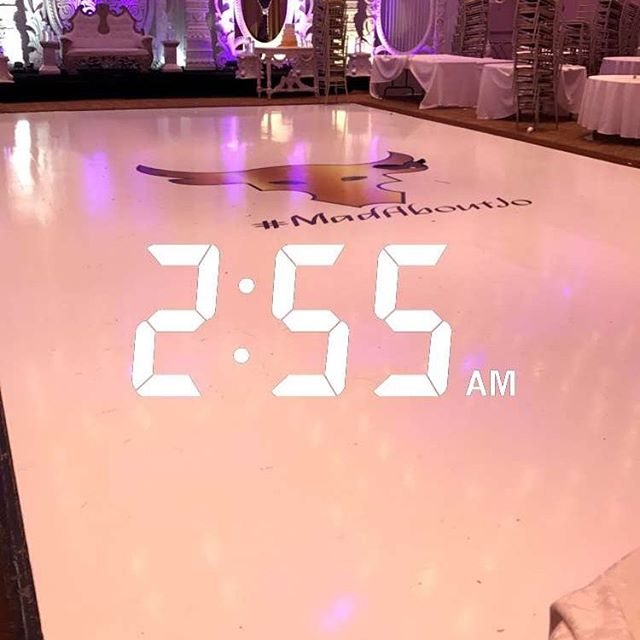 Our beautiful vinyl wrapped floor after being danced on for hours! Still perfect 😍👌🏽 contact info@marqueedesign.ca today for your quote!