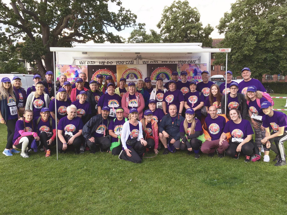 The Amy May Trust team, the Moonlight Colourthon 2016