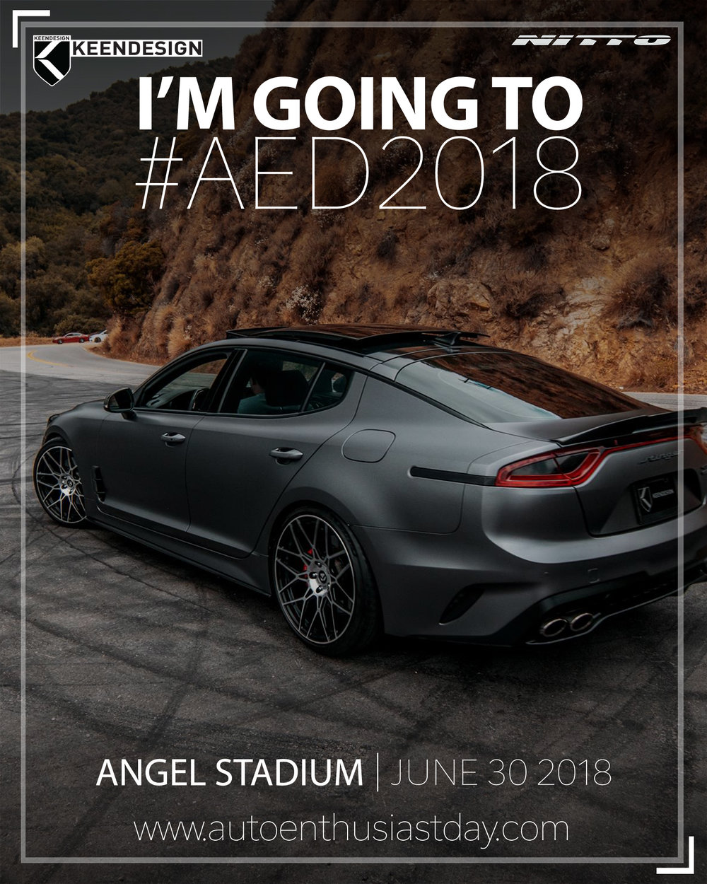 INVITATION TO NITTO DAY KEENDESIGN - Angel stadium car show