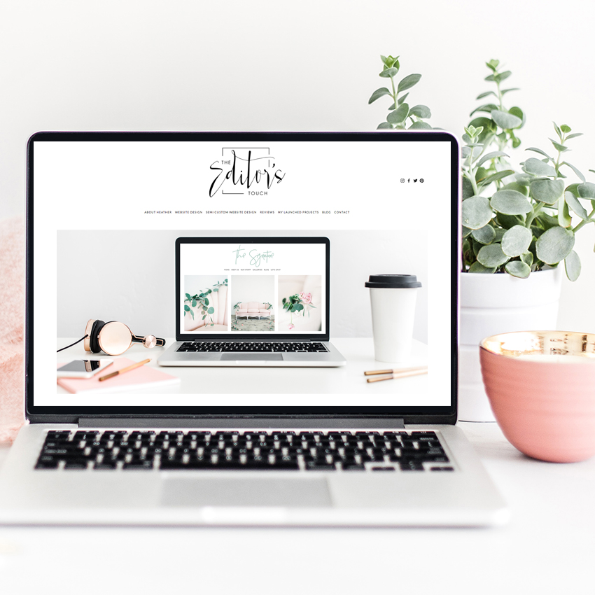 Squarespace Website Design by The Editor's Touch | Web Designer for Wedding Industry Business Owners and Creatives