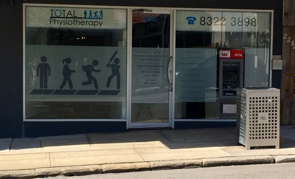 Total Physiotherapy Shop-front