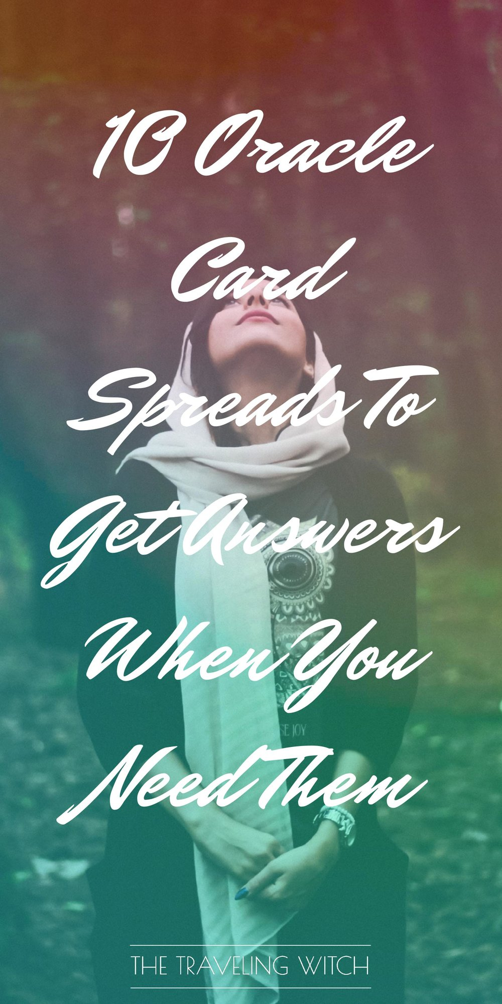 10 Oracle Card Spreads To Get Answers When You Need Them // Witchcraft // Magic // The Traveling Witch