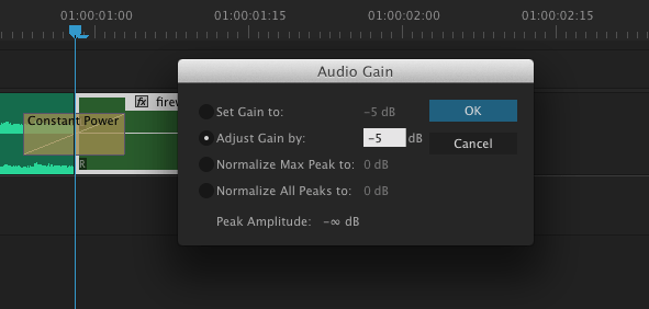 Adjust audio levels as needed