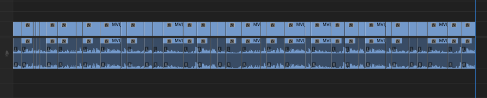 If your video has this many cuts you need to smooth out, pasting individually isn't very practical.