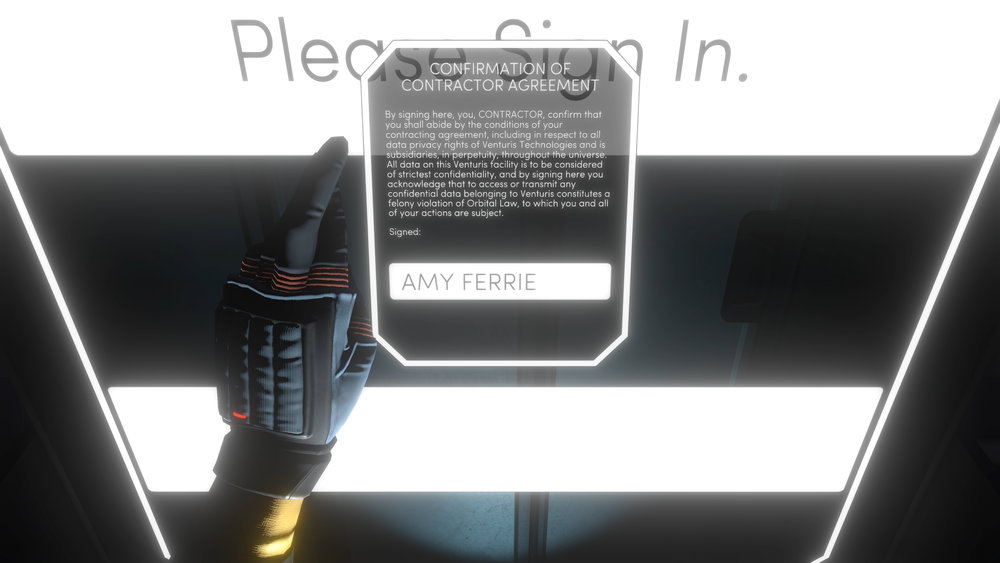 A science fiction game with sign language logins? How could I NOT want to work on this??
