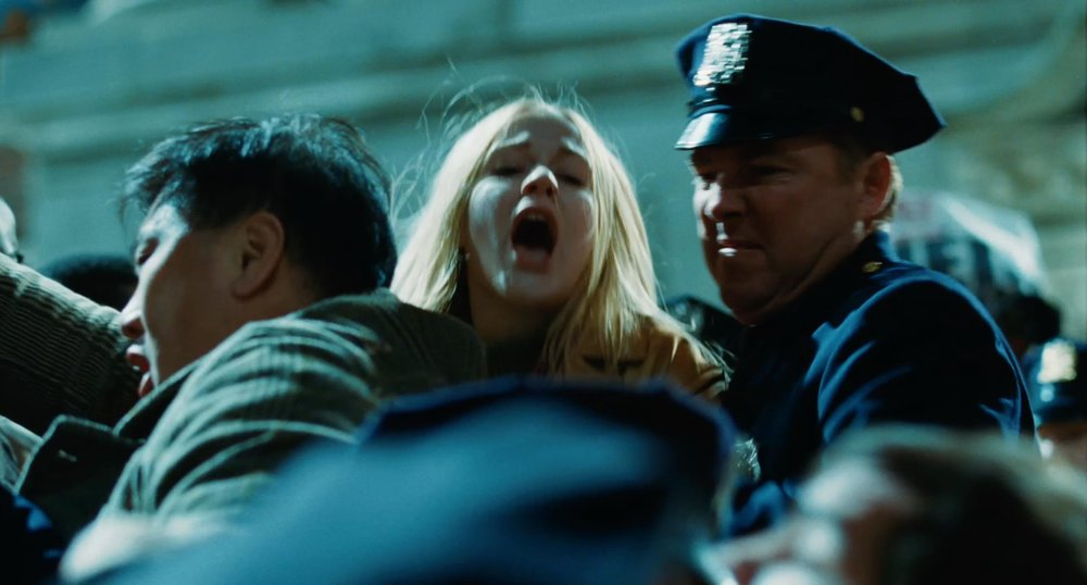 Women yelling while being pulled away seems to be a common trope in trailers.