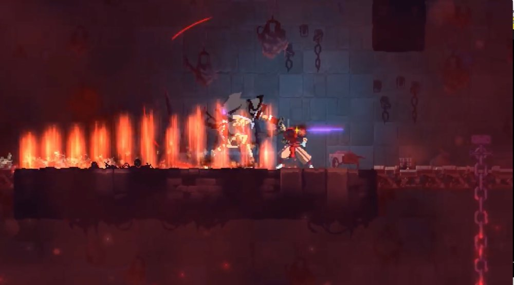 There are so many beautiful visual effects and animations in Dead Cells that fill up the frame.