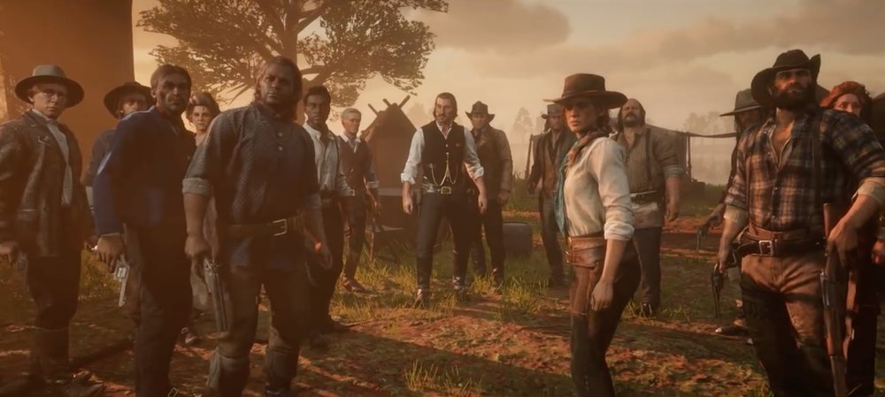 This shot looks like it would be great for establishing the protagonists in the game, but it doesn't come until the end of the trailer, and there's no supporting dialogue.
