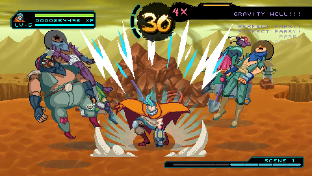 """I saw to it that Way of the Passive Fist's launch trailer has no visible HUD. It wouldn't help communicate: """"You can hit multiple enemies"""""""