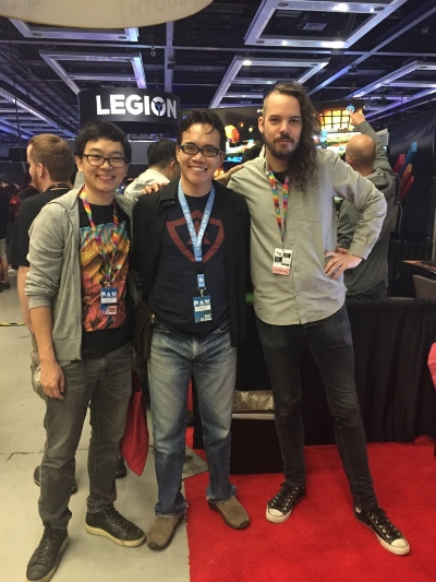 Derek, Derek and Eirik at PAX West 2018!