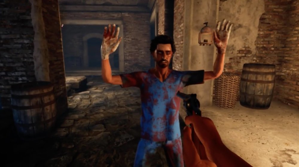 A special debug option was added to make NPCs instantly stick up their hands when you point a gun at them.