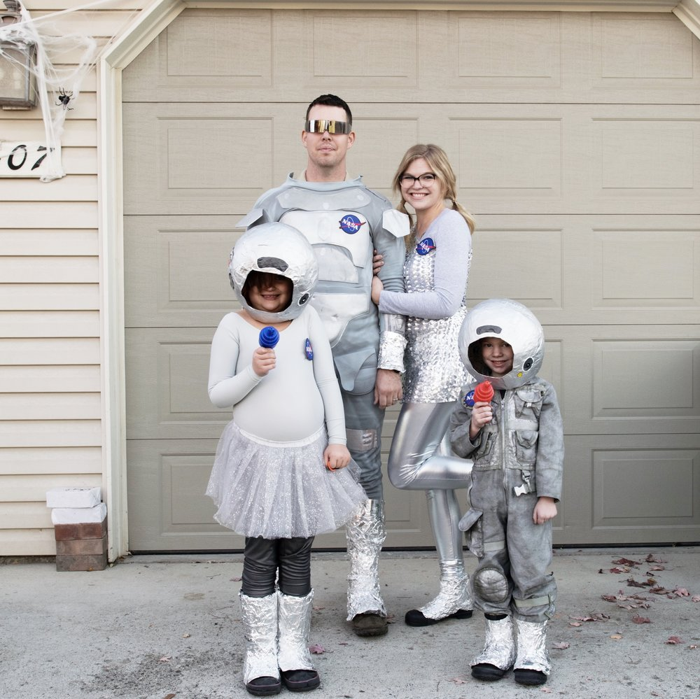 Appearances employee, Heather, and her family Halloween 2017