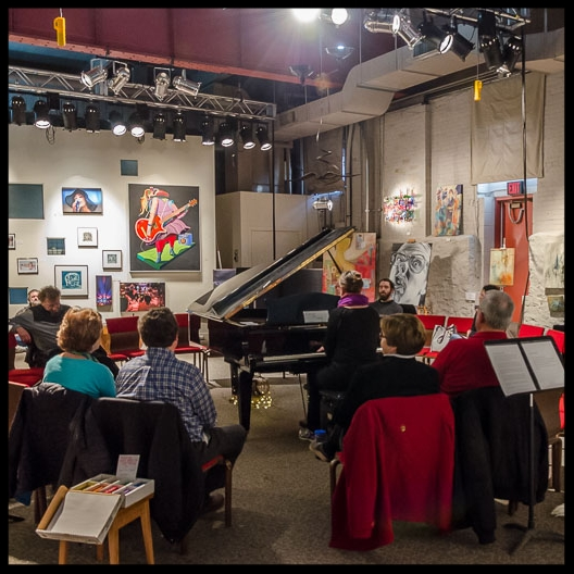 Listening Room at Rock Garden Studio   Let It Flow Art Exhibit ©MarkFerrell 2017