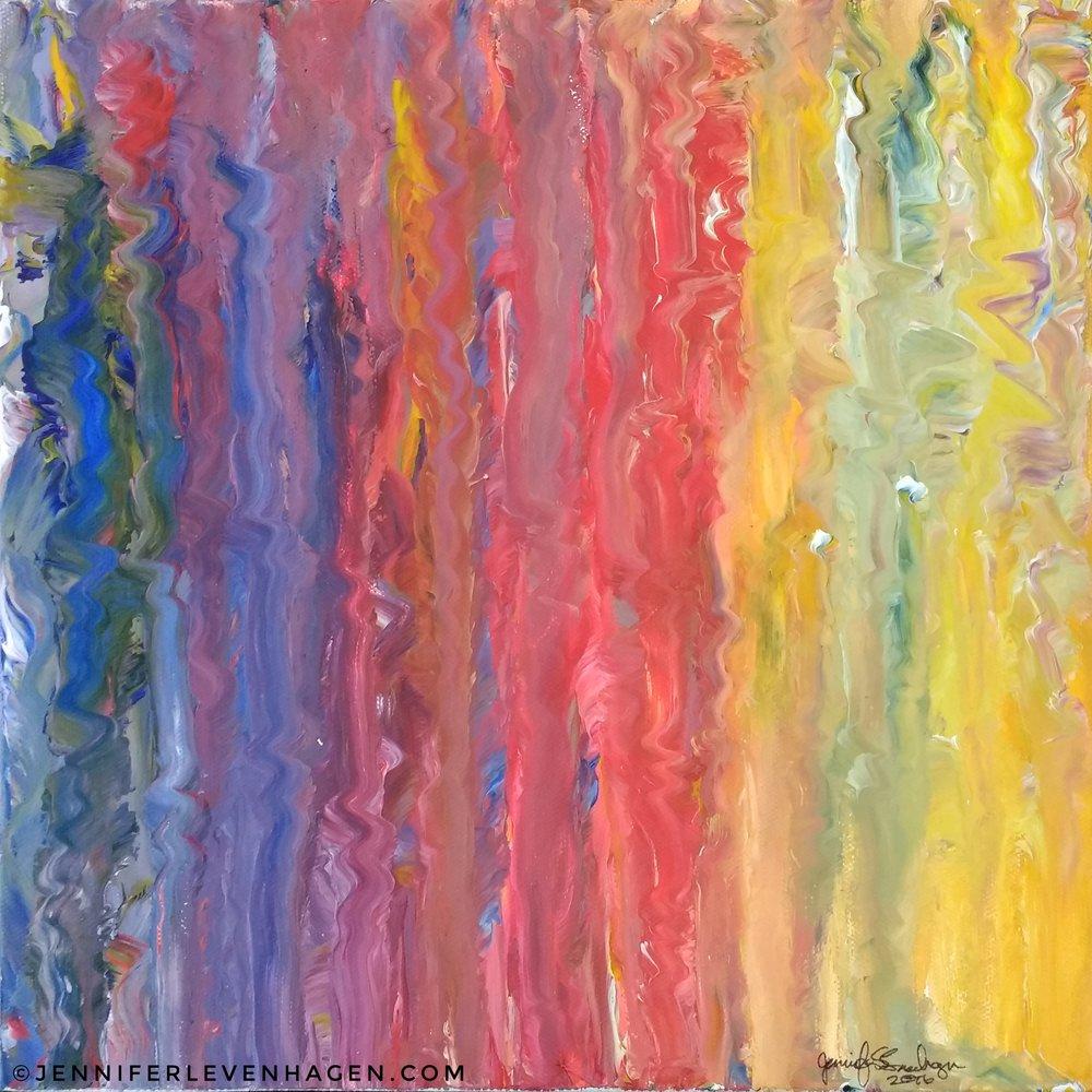 """Rainbows, 12""""x 12"""""""