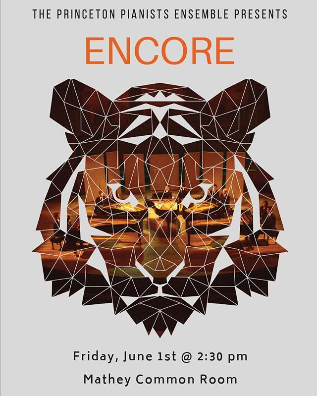 PPE is proud to present our 2018 Reunions Show: Encore! Join us in the Mathey Common Room tomorrow at 2:30 for your favorite PPiEces, including Stravinsky's Firebird, Howl's Moving Castle, and an epic showdown between pianists!