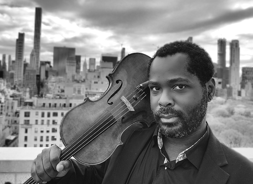 Violist and native Washingtonian Eugene Dyson performs with the orchestra