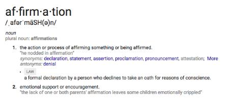The Kalon Life, Affirmations