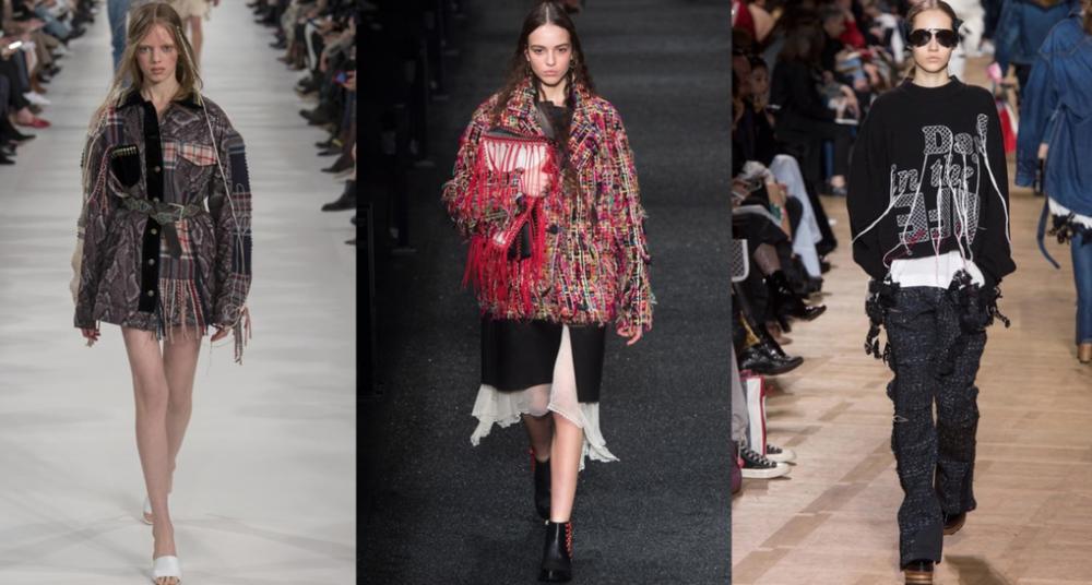 Image via Vogue.com; From Left to Right: Maison Margiela, Alexander McQueen and Sacai