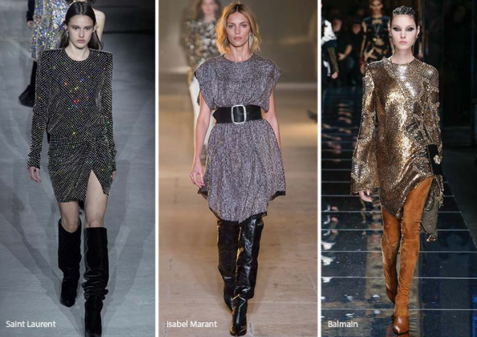 Image via Glowsly.com; From Left to Right: Saint Laurent, Isabel Marant and Balmain