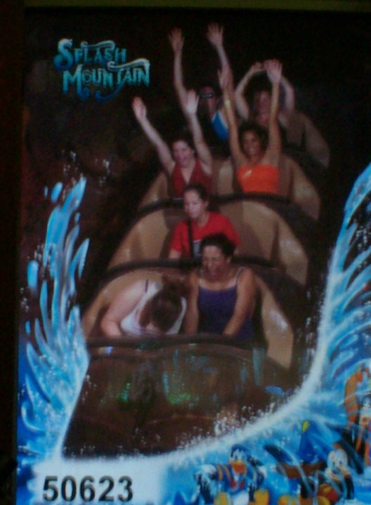 Blurry, but that's me ducking on the only time any of my roommates got me on splash mountain. I hate drops. This was from my first program
