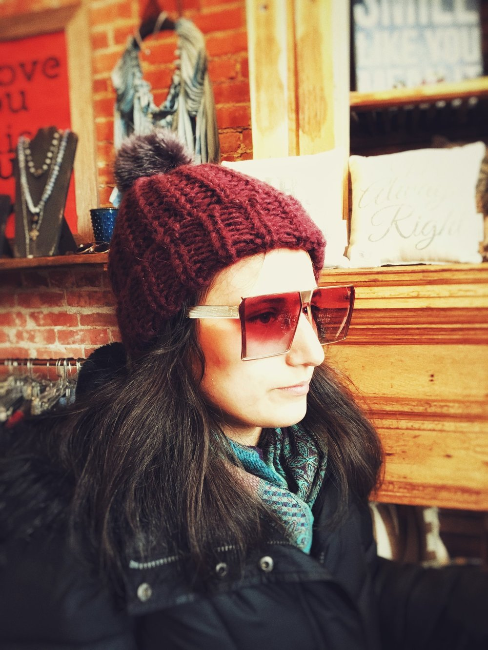 I loved these sunglasses on Adrienne!