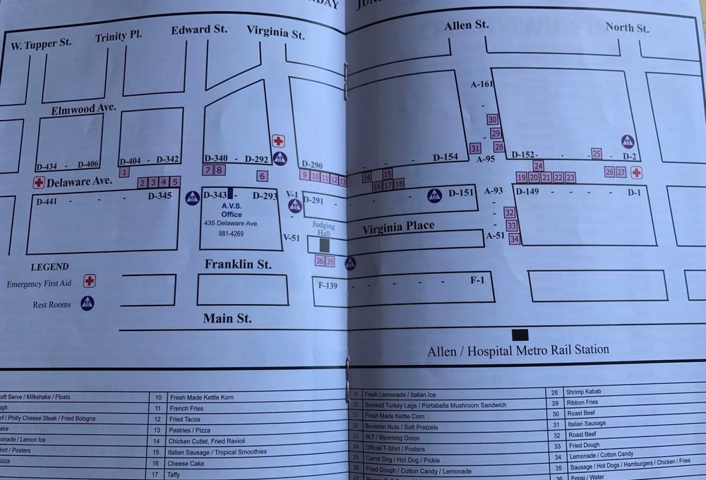 Map of the festival from the brochure