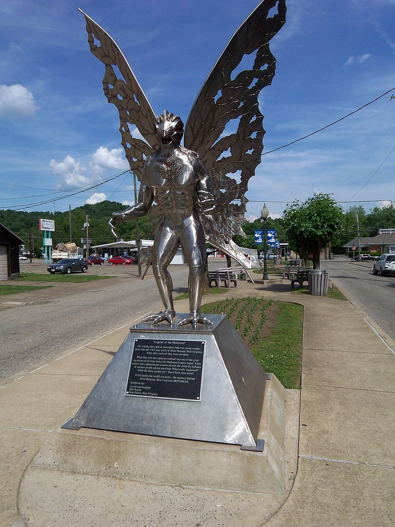 Statue of the Mothman in Point Pleasant.  Source