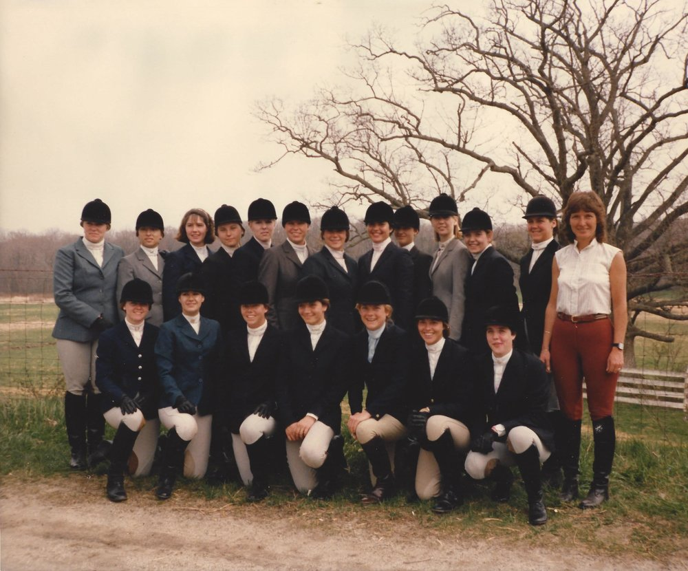 Smith College Equestrian Team 1985