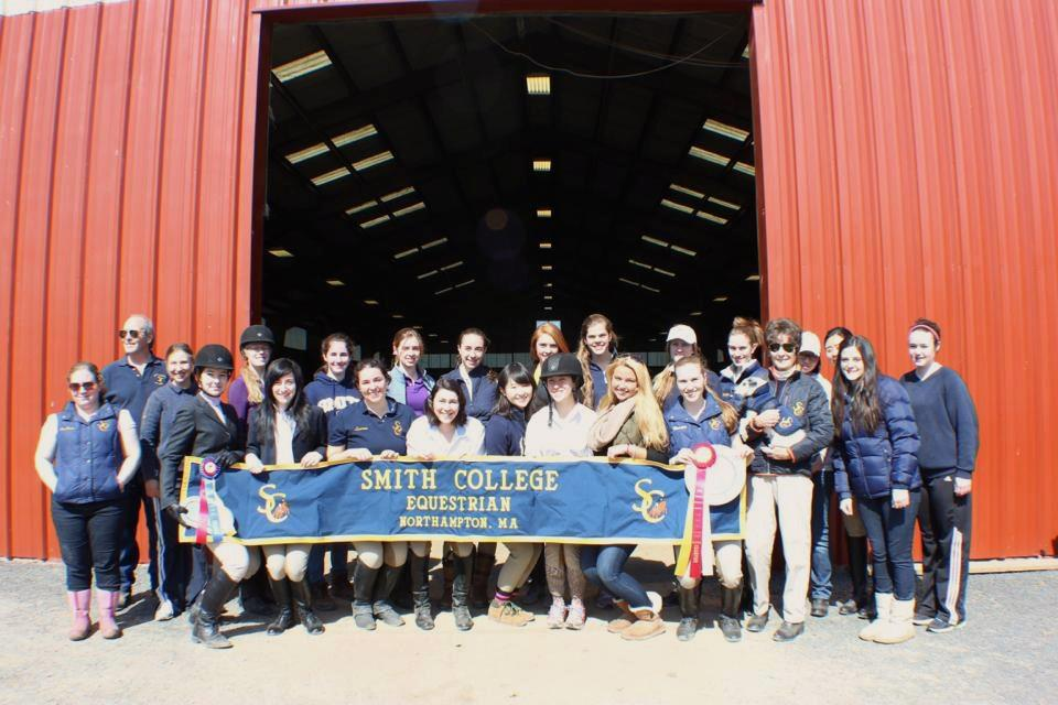 Smith College Varsity Equestrian team in 2013.