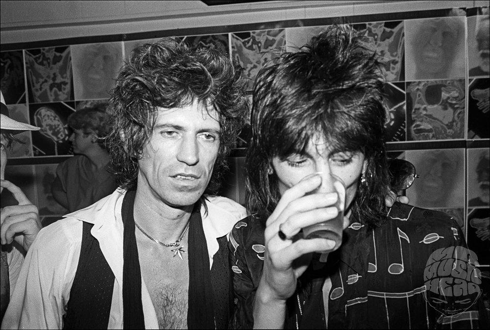 allan tannenbaum_Rolling  Stones_Danceteria_Keith Richards_Ronnie Wood.jpg