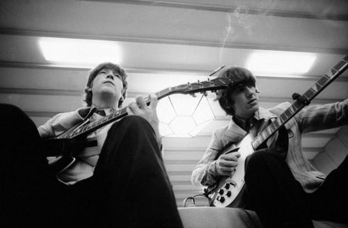John Lennon George Harrison Japan 1966 By Robert Whitaker