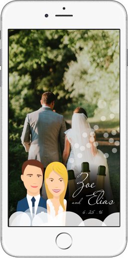 order snapchat geofilters for weddings