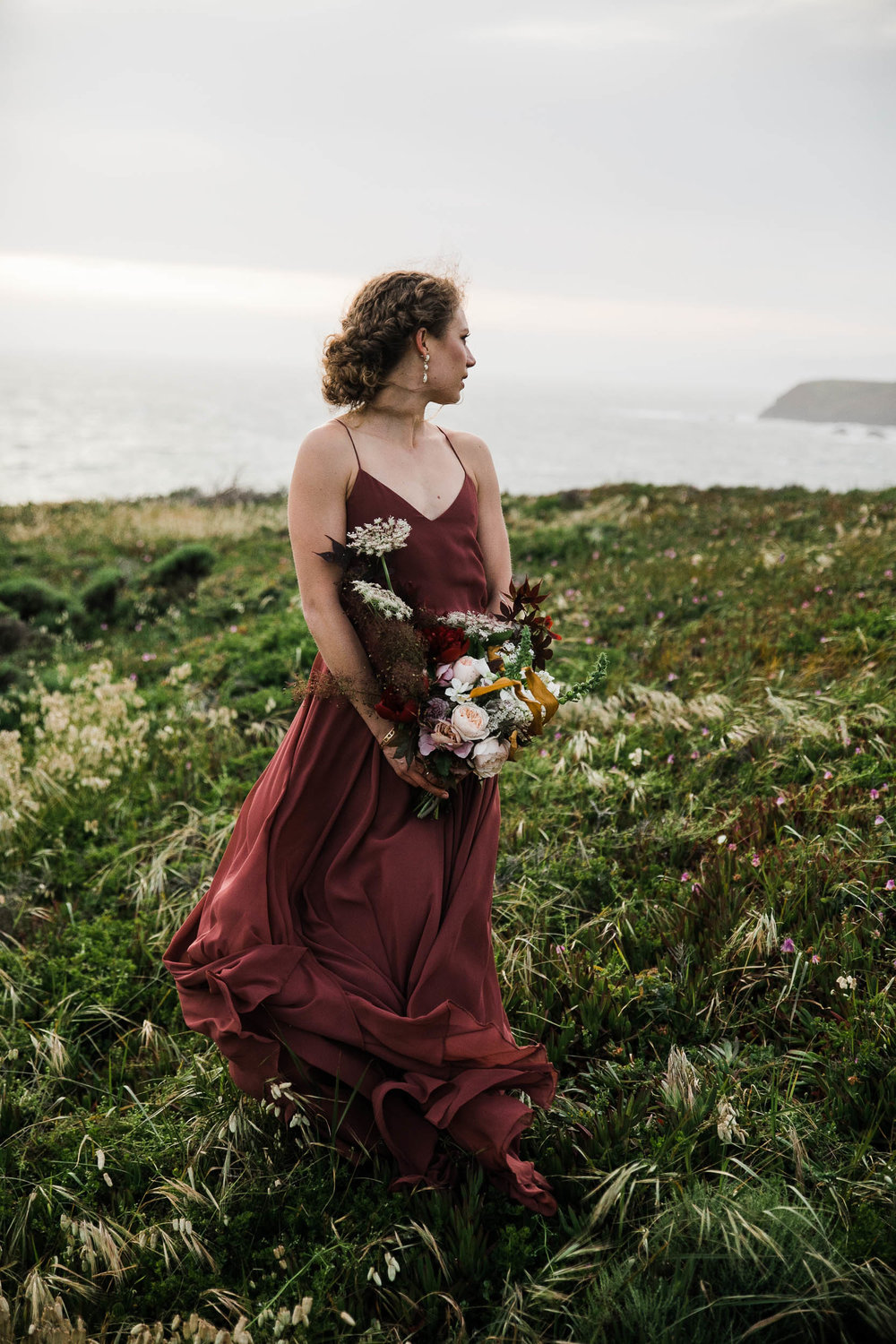 land sea marin headlands adventurous elopement