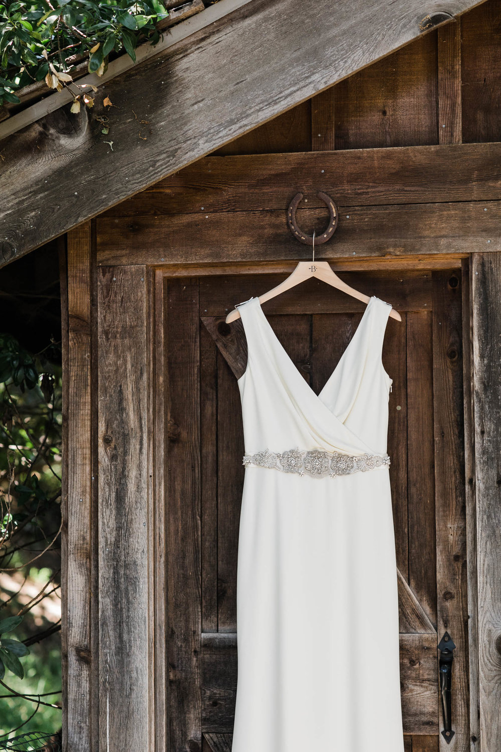 bhldn bridal gown Corkscrew Cafe Carmel Valley Wedding