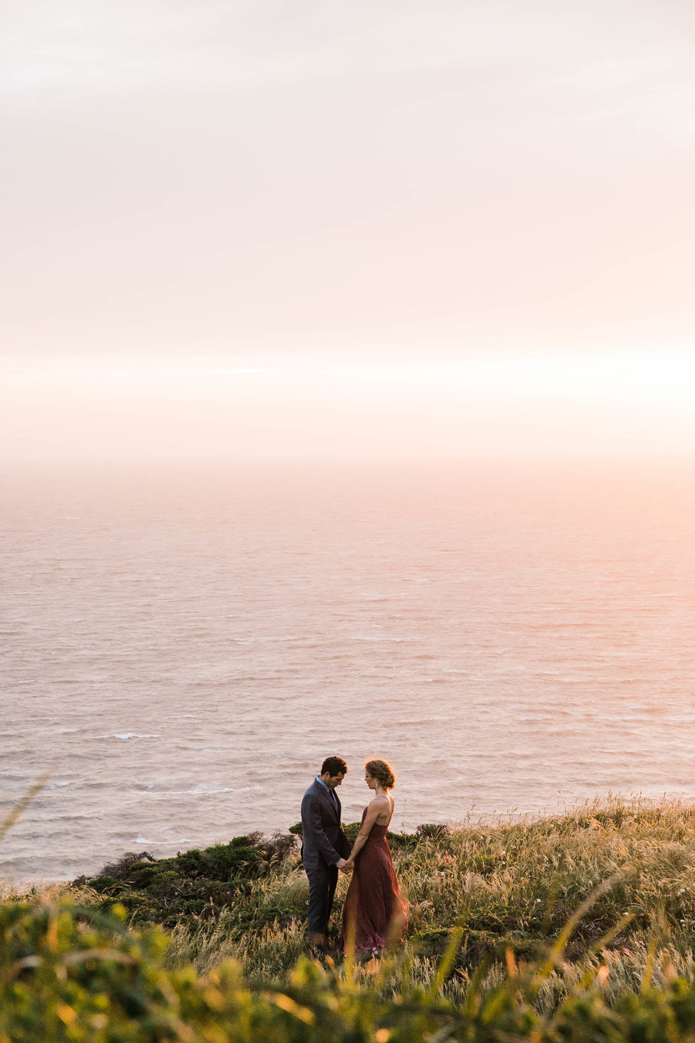 marin headland land sea adventure elopement