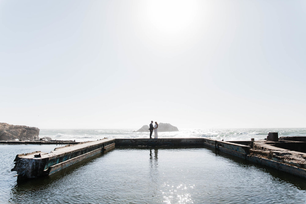 Sutro Baths Elopement Buena Lane Wedding San Francisco Photography