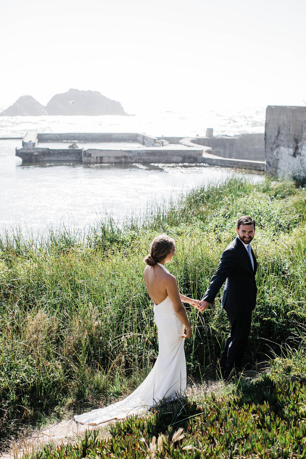 Sutro baths elopement sf wedding photography